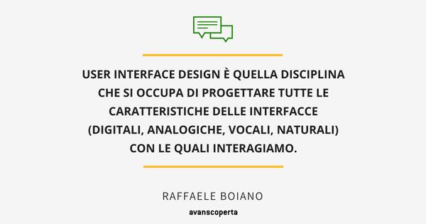 User Interface Design Definizione avanscoperta