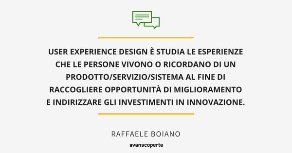 user Experience Design definizione avanscoperta